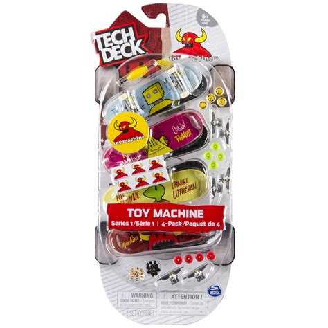 Tech Deck Handboard Tricks by Tech Deck 96mm Fingerboards 4 Pack Machine