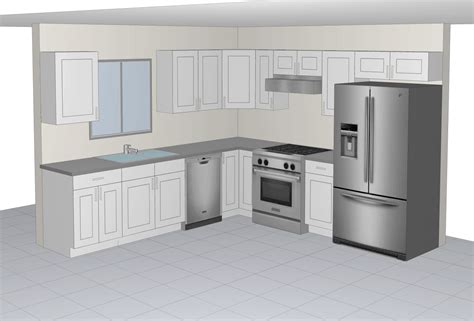 10 by 10 kitchen cabinets 10x10 sle kitchen the rta cabinets 7255
