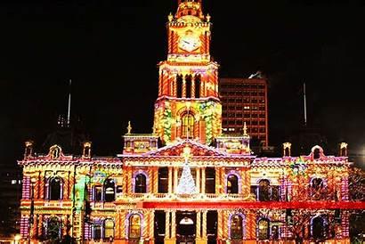 Christmas Sydney Australia Lights Hall Town Australian