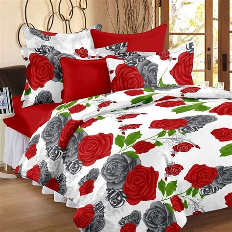 Ahmedabad Cotton Cotton Floral Double Bedsheet   Buy