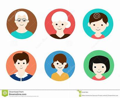 Avatars Mother Father Grandmother Grandfather Concept Children