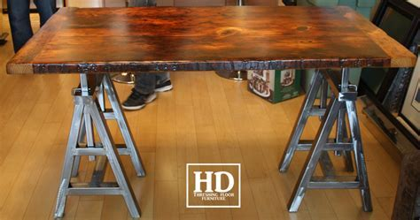 Reclaimed Wood Bar & Kitchen Island Tops   HD Threshing