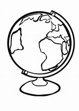 Globe Coloring Pages Earth Clipart Printable Template Stand Number Getcoloringpages Map Save Planet Eps sketch template