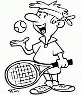 Tennis Coloring Player Pages Drawing Sports Drawings Guy Racquet Timtim Playing Racket Printable Drawn Getcoloringpages Days Ago Stringing Bw Pro sketch template