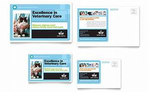 Real Estate Ads Examples Animal Hospital Postcard Template Design
