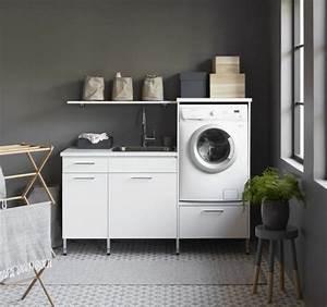 Meuble Pour Machine À Laver : meuble machine laver pour un coin buanderie pratique ~ Dode.kayakingforconservation.com Idées de Décoration