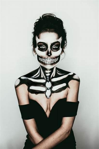 Skeleton Makeup Halloween Spooky Costumes Skull Emmy