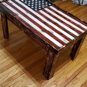 Loved the design of the coffee table and needed something in my living room to make it feel a little less empty. American flag coffee table in 2020 | Diy coffee table, American flag wood, Wood flag