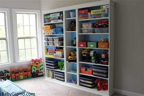 Diy Ikea Playroom Built-in Billy Bookcase