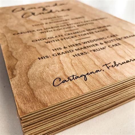 super thick wood menus