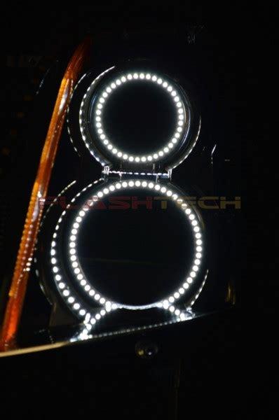 cadillac srx white led halo headlight kit 2004 2009