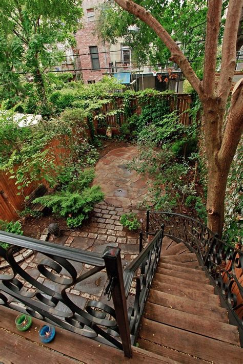 Nyc Backyard by Park Slope 1890 S Brownstone Fig Interior Design New