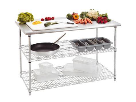 table etagere cuisine achat table inox cuisine table de travail inox de 130 cm