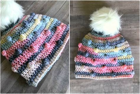 bobble crochet hat  pattern stylesidea