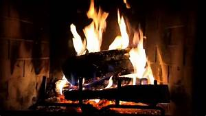 Classic Yule Log Fireplace with Crackling Fire Sounds (HD ...