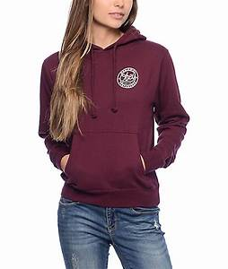Womens Burgundy Hoodie | Tulips Clothing