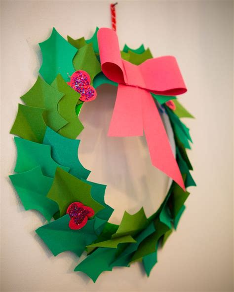 christmas paper wreath paper plates pinterest
