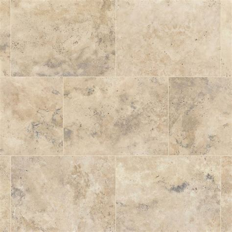 Travertine flooring in a Luxury Vinyl Tile   good for a