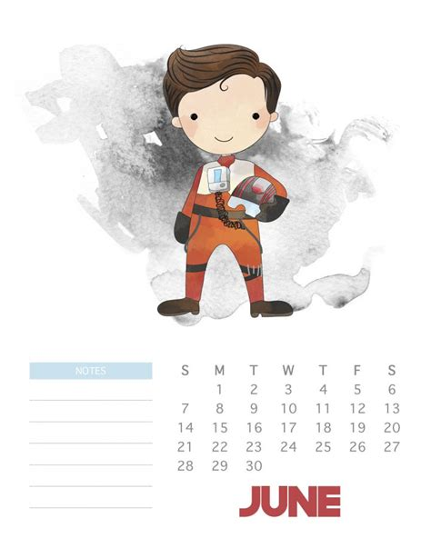 printable  star wars calendar  cottage market