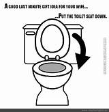Toilet Flush Coloring Template sketch template