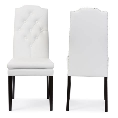 baxton studio dylin modern and contemporary white faux