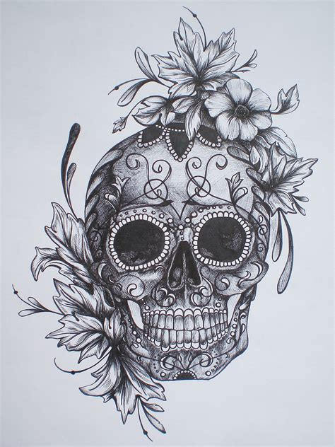 Best Sugar Skull Drawings Ideas And Images On Bing Find What You