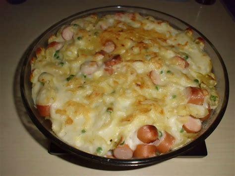 calorie gratin de pate gratin de p 226 tes aux petits pois et wienerlis les exp 233 riences culinaires de chau7