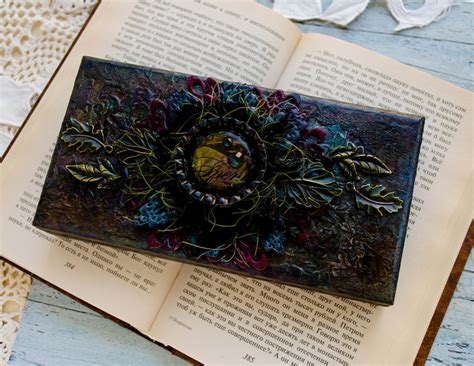 mixed media place wooden box  anastasia kuznetsova