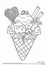 Colouring Ice Cream Coloring Pages Cone Sundae Seaside Activity Printable Drawing Village Getdrawings Sprinkles Getcolorings Explore Whitesbelfast Activityvillage sketch template