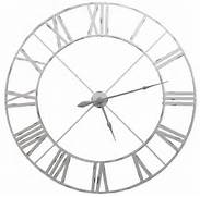 Wall Clocks Large by Extra Large Skeleton Wall Clock In Distressed Grey White Finish 110cm