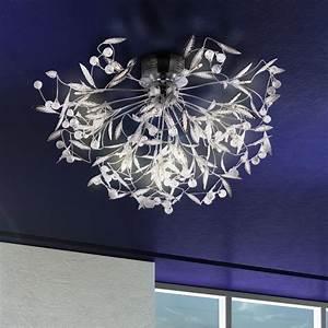 Lampen Für Den Flur : kristall kugeln deckenbeleuchtung bl tter decken lampe wohnzimmer leuchte flur ebay ~ Frokenaadalensverden.com Haus und Dekorationen
