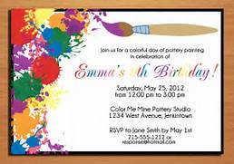 Painting Artist Customized Printable By Sapphiredigitalworks Rainbow Birthday Party Invitations Free Printable Making It Birthday Party Invitations Birthday Party Invitations To Make New Card Maker Tool Designs Happy Birthday Cards Invitation Card