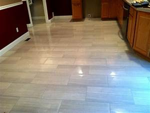 Modern kitchen floor tile by link renovations for How to clean white tile floors