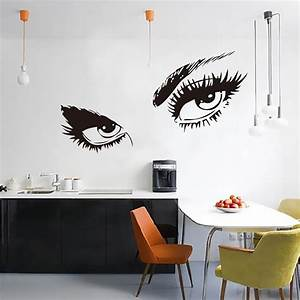 vogue audrey hepburns eyes quote wall sticker diy decal With kitchen cabinets lowes with audrey hepburn quotes wall art