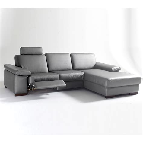 revetement canapé d angle canapé d 39 angle droite 1 place relaxation électrique