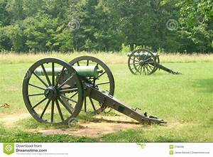 American Civil War cannon stock photo. Image of side ...
