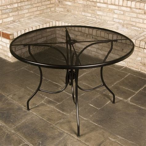 napa wrought iron patio set by meadowcraft
