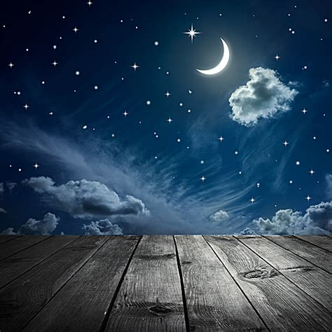 Sky Beautiful Scenery Wood Hd Photo, Board, Night View
