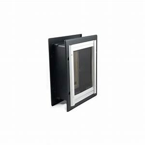 shop petsafe medium tan aluminum wall pet door actual 11 With dog doors for walls lowes