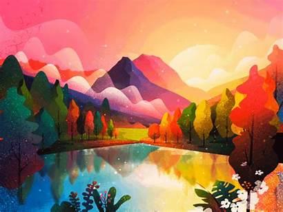 Scenery Illustration Graphic Animated Landscape Animation Inspiration