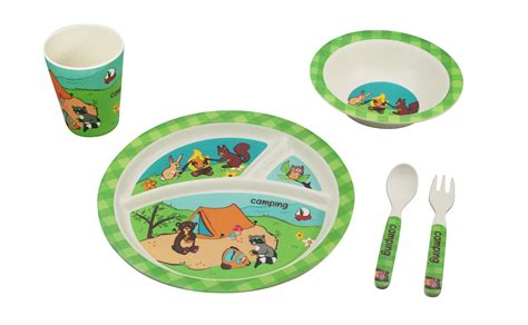 camping dinnerware bamboo dinner studio gift christmas birthday korner toddlers babies piece paperlesskitchen