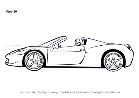 cartoon sports car side view learn how to draw a ferrari sports cars step by step