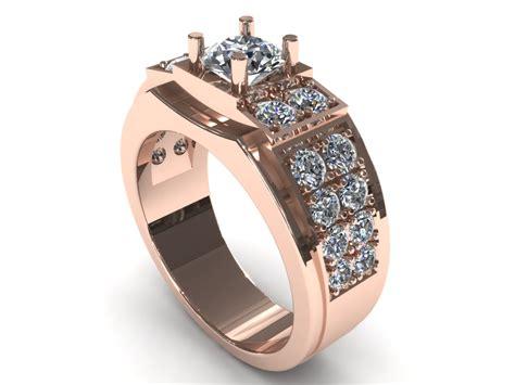 man wedding diamond ring 3d 3d printable stl 3dm cgtrader com