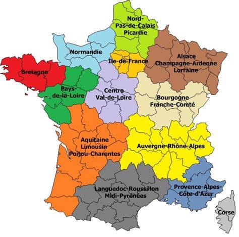 Nouvelle Carte De Par Region by Carte Region