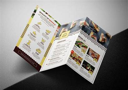 Brochure Template Fold Tri Catering Service Templates