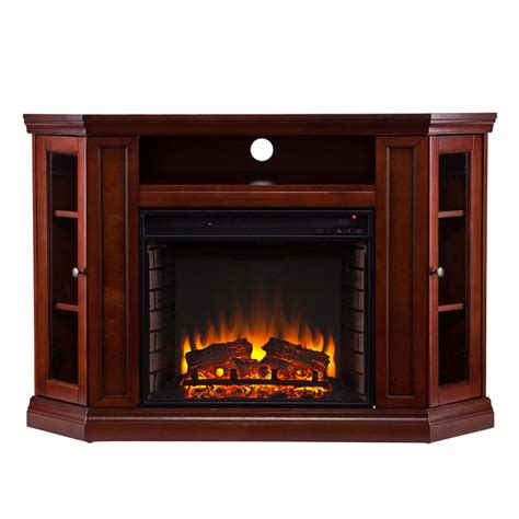 """48"""" Claremont Convertible Media Electric Fireplace   Brown"""