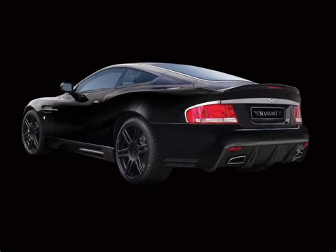 2008 Mansory Aston Martin Vanquish S Black Rear And Side