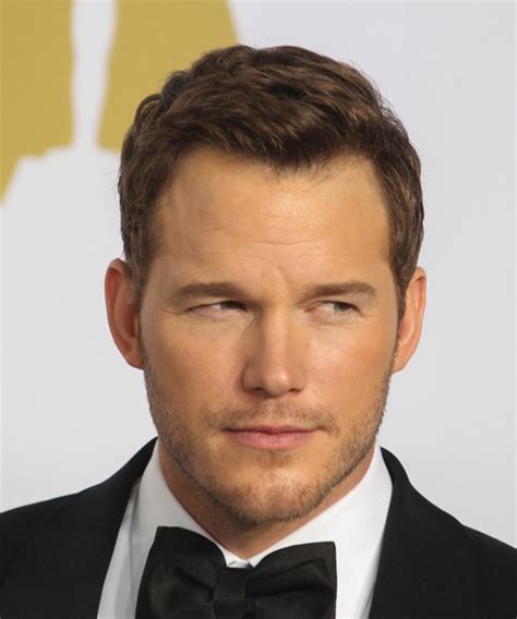 Chris Pratt Short Straight Formal Hairstyle   Medium