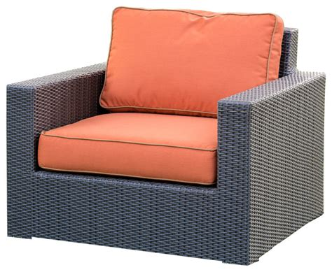 terrace collection wicker club chair patio furniture
