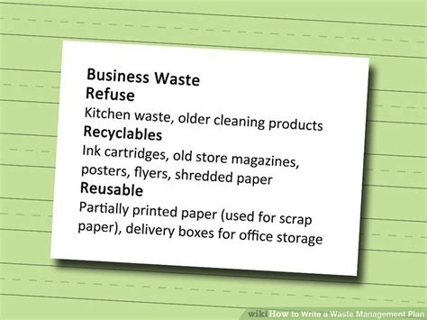 How To Write A Waste Management Plan 10 Steps (with Pictures